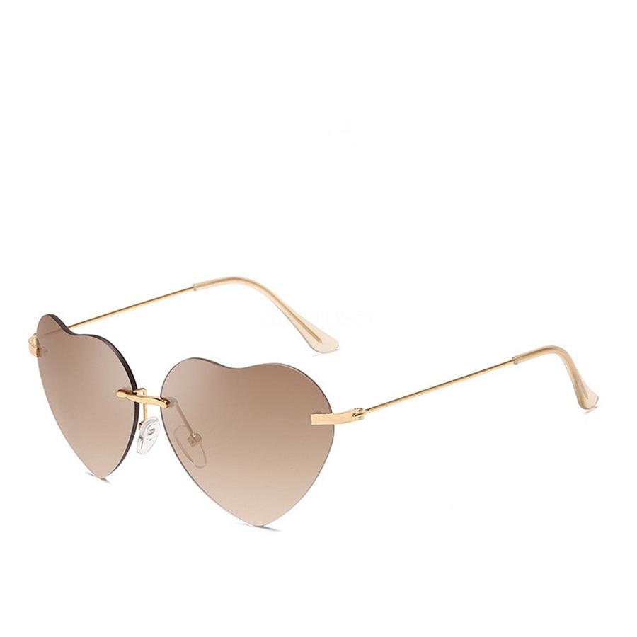 Wood Heart-Shaped Sunglasee For Men High Quality New Fashion Sports Buffalo Horn Glasses Rimless Gold And Silver Full Frame Clear Lens Round