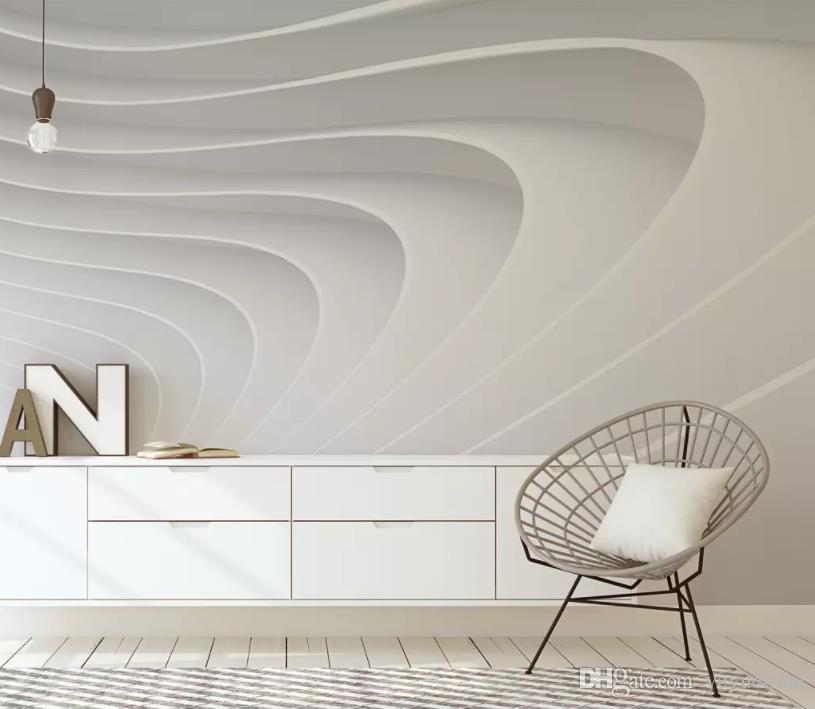 пользовательские простые 3d обои гостиная диван стена фото 3 d обои для стен стены спальни вращающееся пространство фон стены