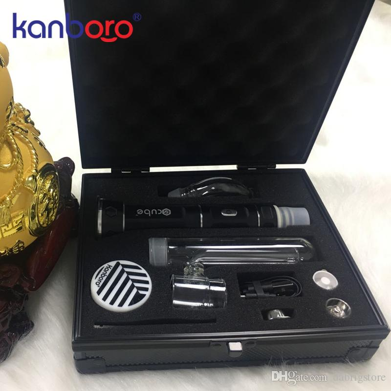 2019 hot Vape device high quality dry herb vaporizer portable wax dab rig pen from Kanboro ecube kit in stock