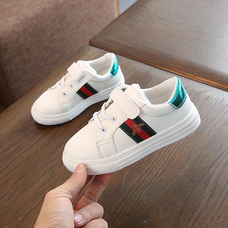 Otoño niños pequeños blancos Zapatos de las muchachas catamita chicas Calzado casual Apis florea Estudiante skate zapato zapatos de bebé
