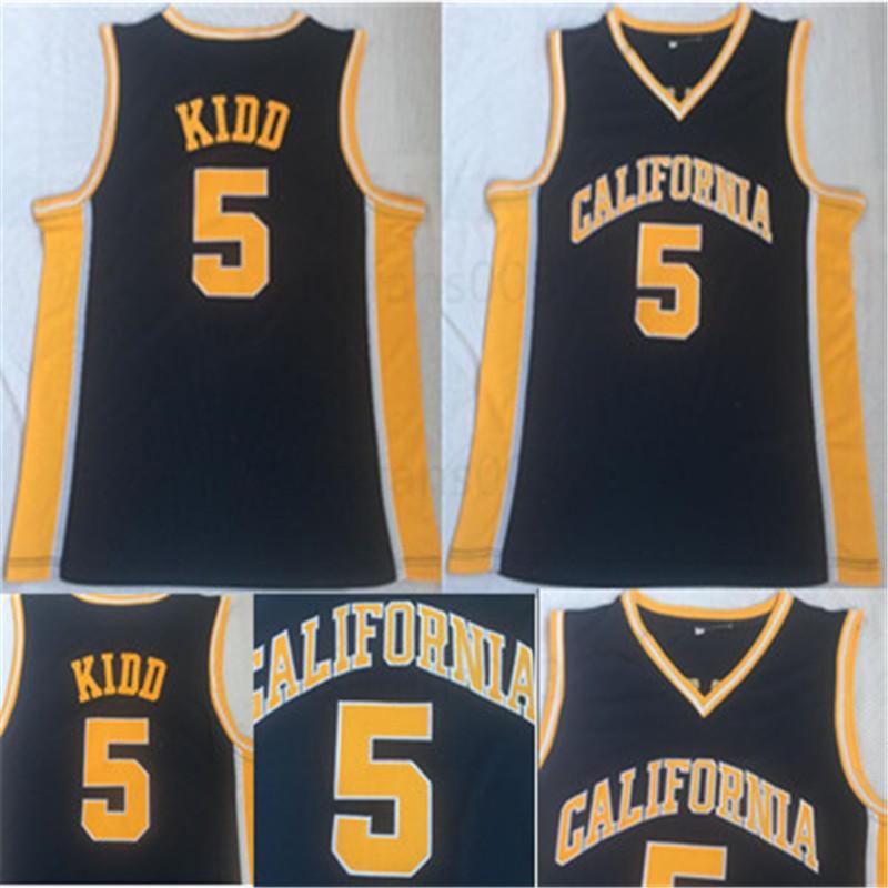 оптового Джейсон Кидд College Basketball трикотажных изделия Mens California Golden Bears Vintage Home прошитого по баскетболу рубашки S-XXL