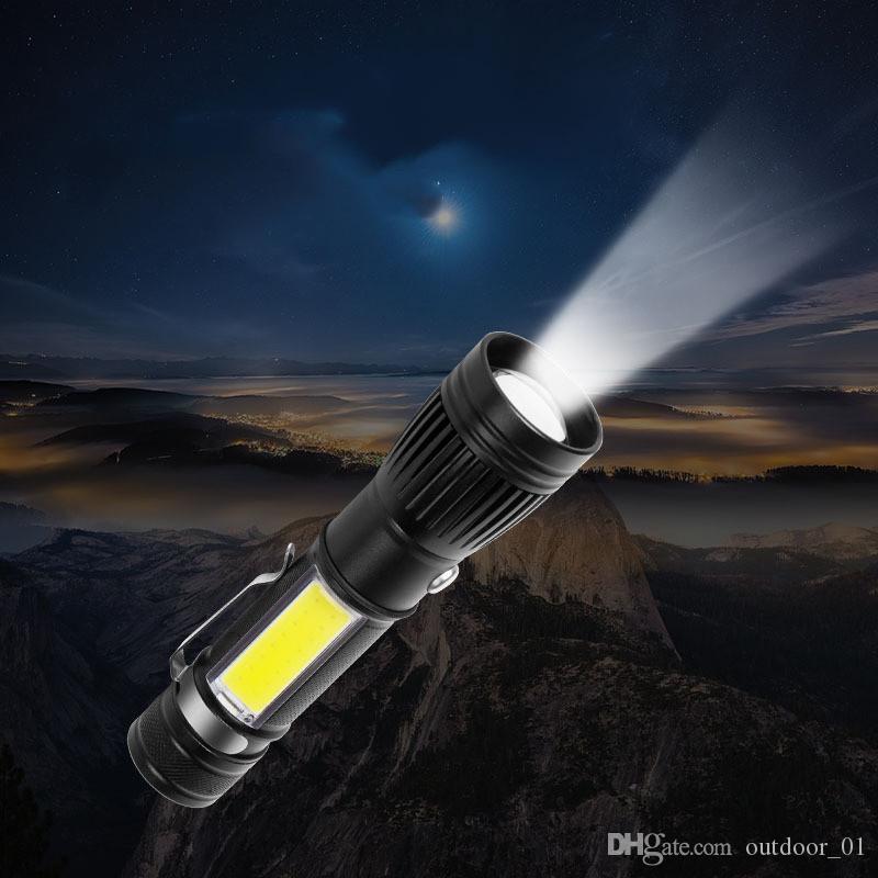 Éclairage en alliage LED lampe de poche multi-fonction patch light light outdoor camping outils de survie outils de randonnée en plein air accessoires lampe de poche