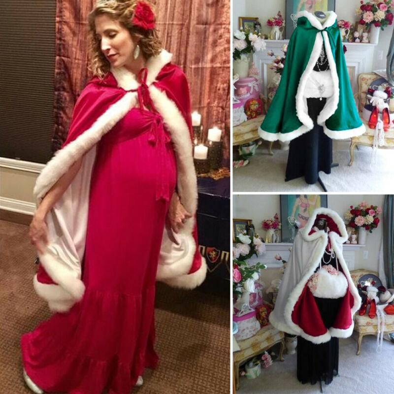 Xmas Cosplay di Natale Costumi Mantello adulti di Natale Babbo Natale Velvet Capo Mantello Cappa Cosplay Clothes