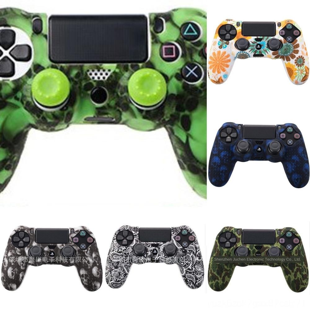 CKUXl Full Housing Shell Case Skin Cover Button Set with Full Buttons Mod 4 Replacement PS4 Playstation Kit For Controller Gold.