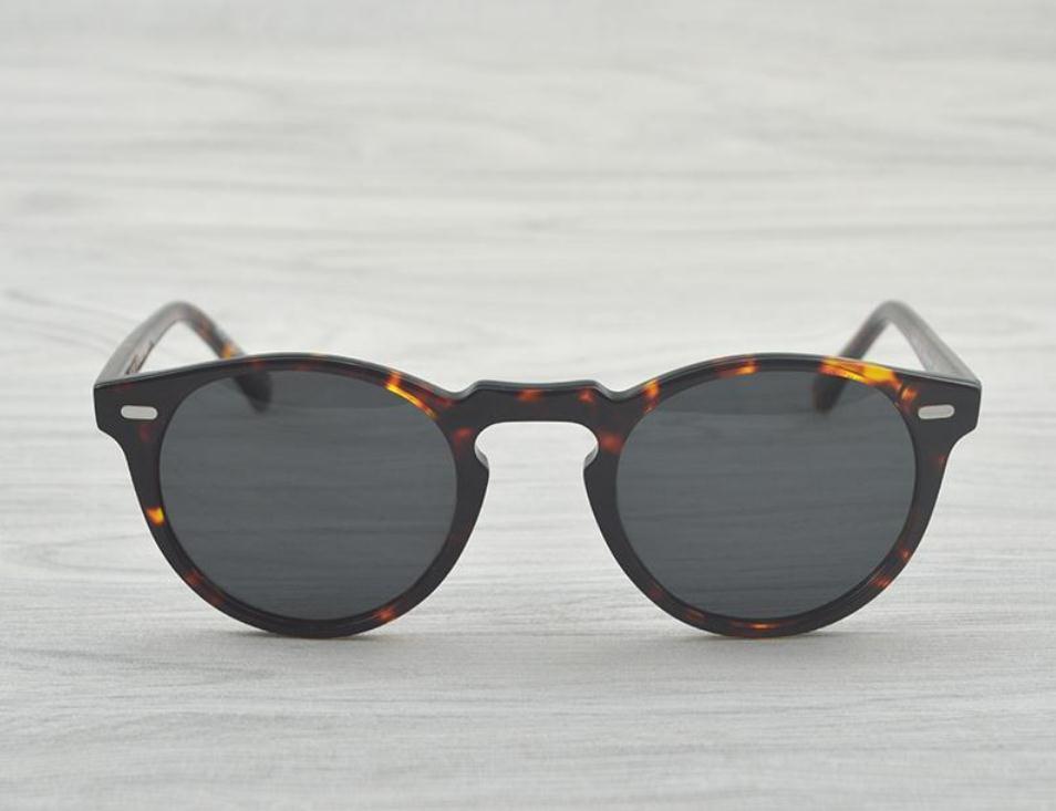Gregory Peck marca uomini e donne 45 millimetri Designer 47mm Occhiali da sole Oliver Vintage occhiali da sole polarizzati popoli ov5186 retrò Sun glasses ov 5186