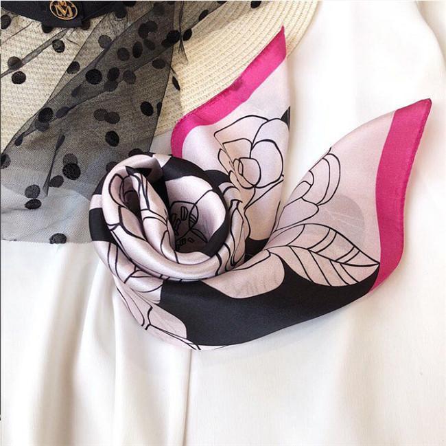 de mode foulard en soie de haute qualité dames écharpe décorative 50 * 50cm cravate de style européen