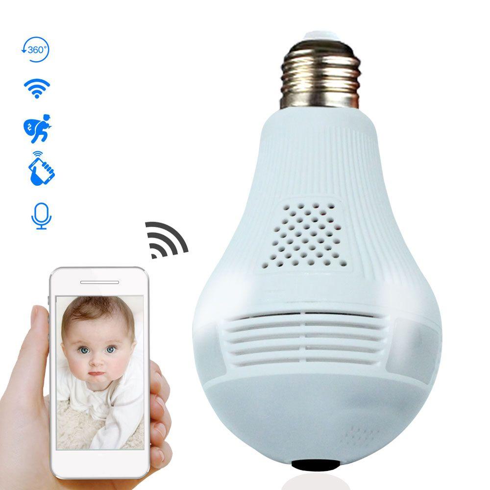 360 درجة LED ضوء 960P اللاسلكية بانورامي الأمن الرئيسية لمبة الأمن ضد السرقة واي فاي CCTV فيش مصباح IP كاميرا الصوت بطريقتين