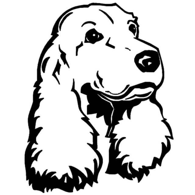 Holdfast 12,6 * 16см спаниель собака мило прекрасный автомобиль наклейка ноутбук деколь CA-1073
