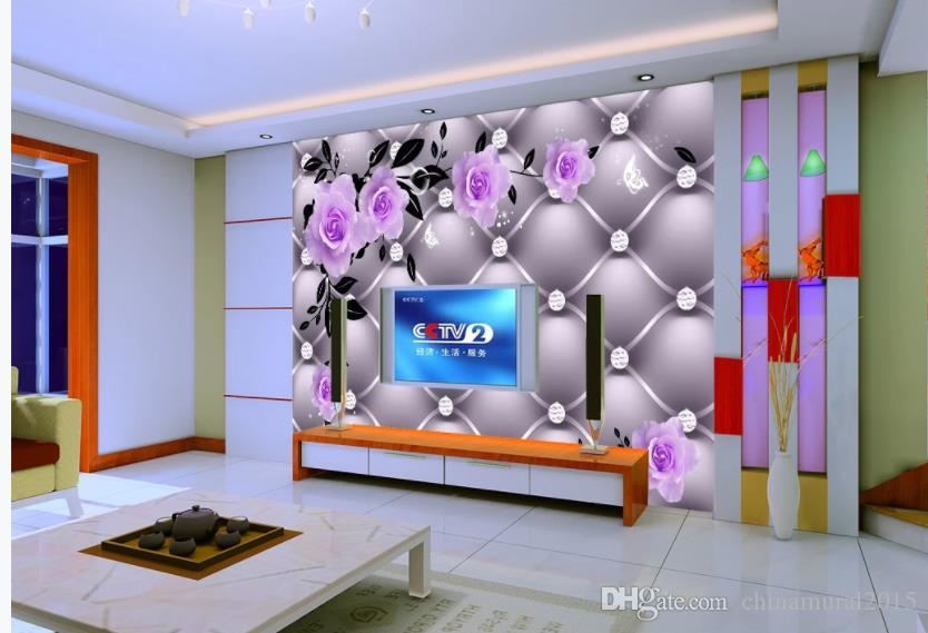 wallpaper for walls 3 d for living room purple rose leather soft pack tv background wall download free wallpaper download free wallpapers from chinamural2015 28 15 dhgate com dhgate com