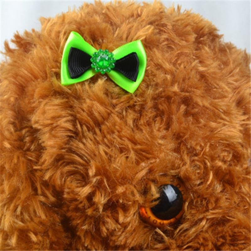 Kimpets Pet Bow Hairpin Jewelry Dog Supplies Hairpin Super Cute Head Flower Dog Headdress Teddy Rubber Band Dog Houses Kennels Accessories