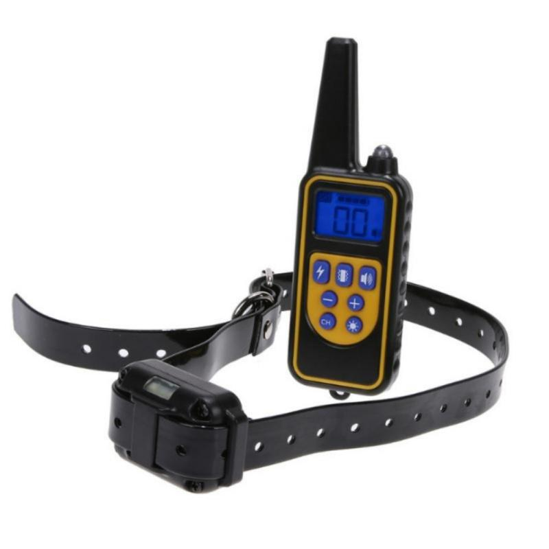 Electric Pet Dog Training Collar Waterproof Rechargeable LCD Display 800M Remote Control Dog Training Collar EU US UK Plug Dog Training Ob