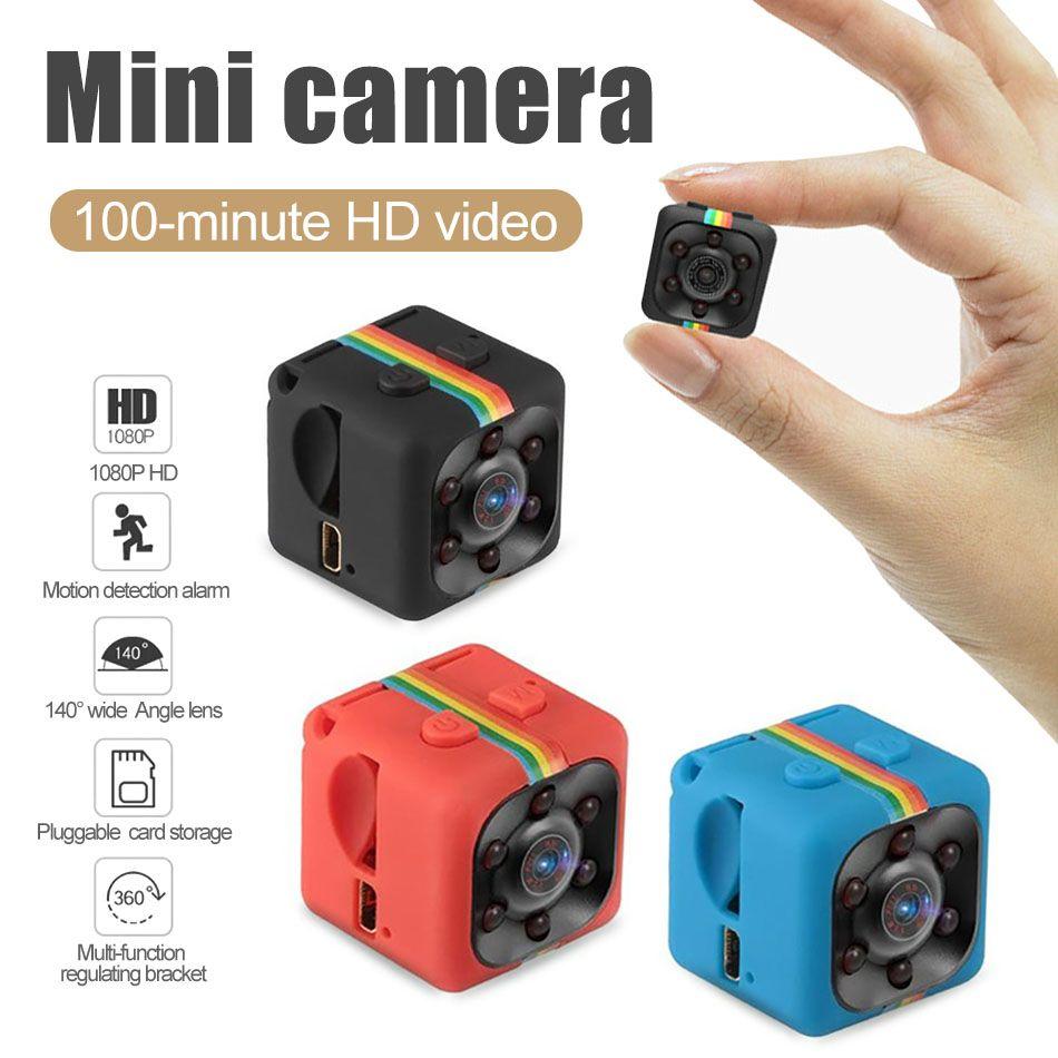 SQ-11 mini tarjeta de Seguridad Cámaras de infrarrojos Cámaras noche del monitor del sensor de la cámara 1080P HD de la visión de la videocámara DVR Deporte TF de la ayuda con Box