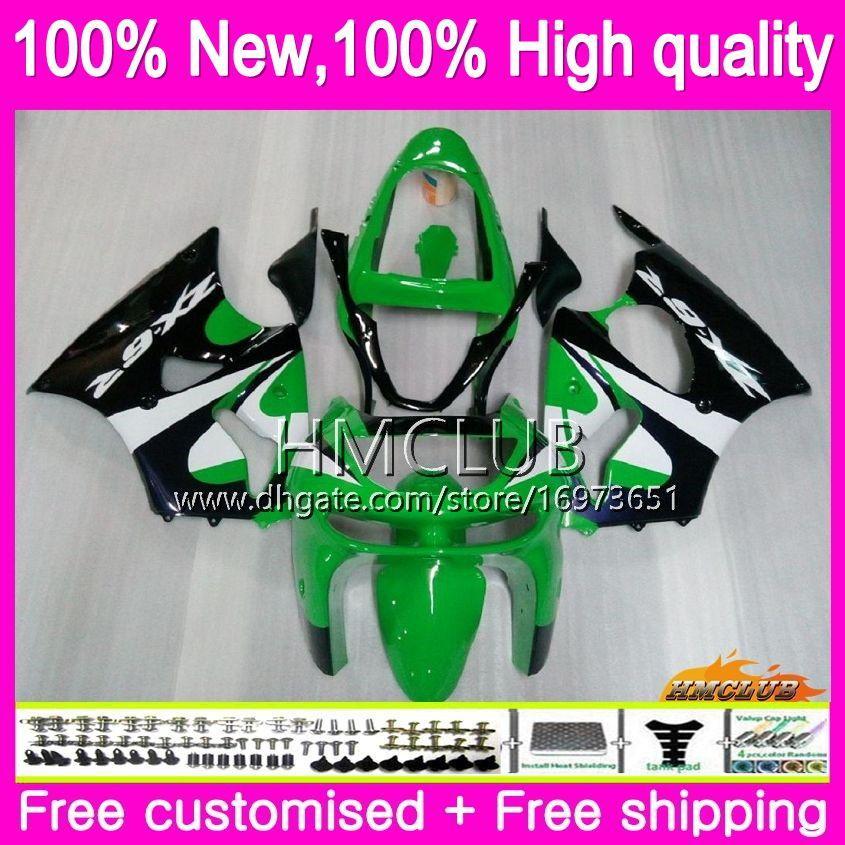 Bodys para Kawasaki ZX6R ZX 6 R 600 CC ZX6 R ZX636 ZX600 98 99 Fábrica verde 60HM.10 600cc ZX636 ZX6R 98 99 ZX 636 ZX 6R 1998 1999 Carenado