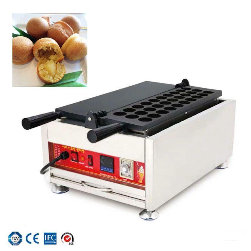 Popüler Malezya Mutfağı KAYA Topu Makinesi Ticari Waffle Top Makinesi Elektrikli Pasta Kahve Dükkanı Pişirme Ekipmanları