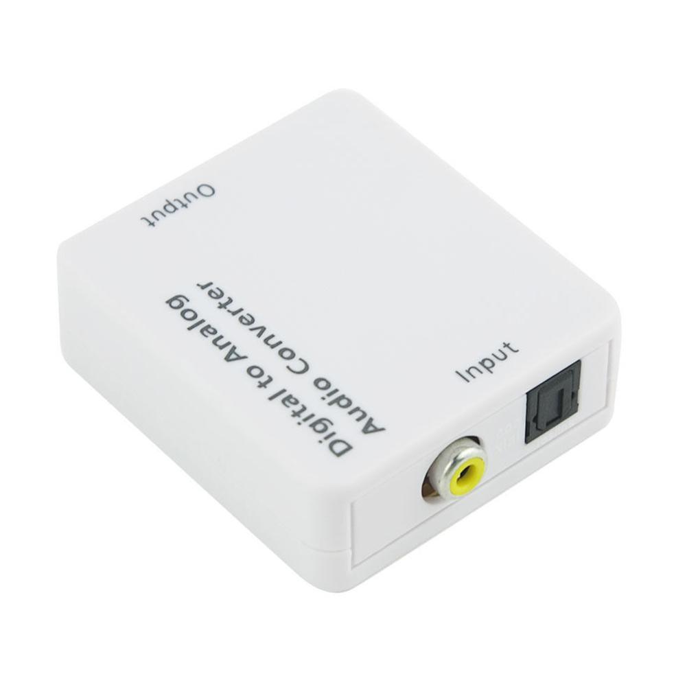 Práctica conector digital a analógico coaxial óptico principal puerto USB Audio Converter adaptador TOSLINK Decodificador Accesorios portátiles