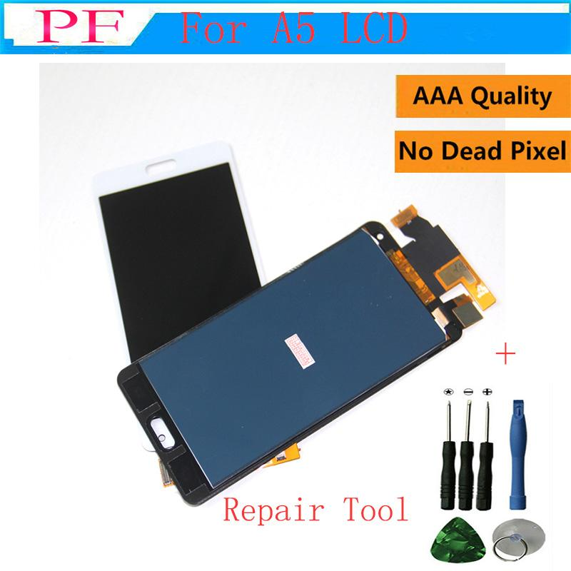 High Quality 100% Tested LCD Display Touch Screen For Samsung galaxy A5 2015 A500 A500F A500FU A500M LCD Digitizer Assembly + Repair Tool