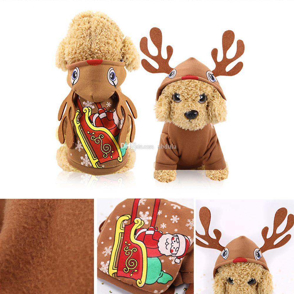 Домашнее животное Собака Санта костюмы Рождество пальто смешной одежды любимчика одежды Украшения для Pet толстовки щенок кошки быстрая доставка DHL