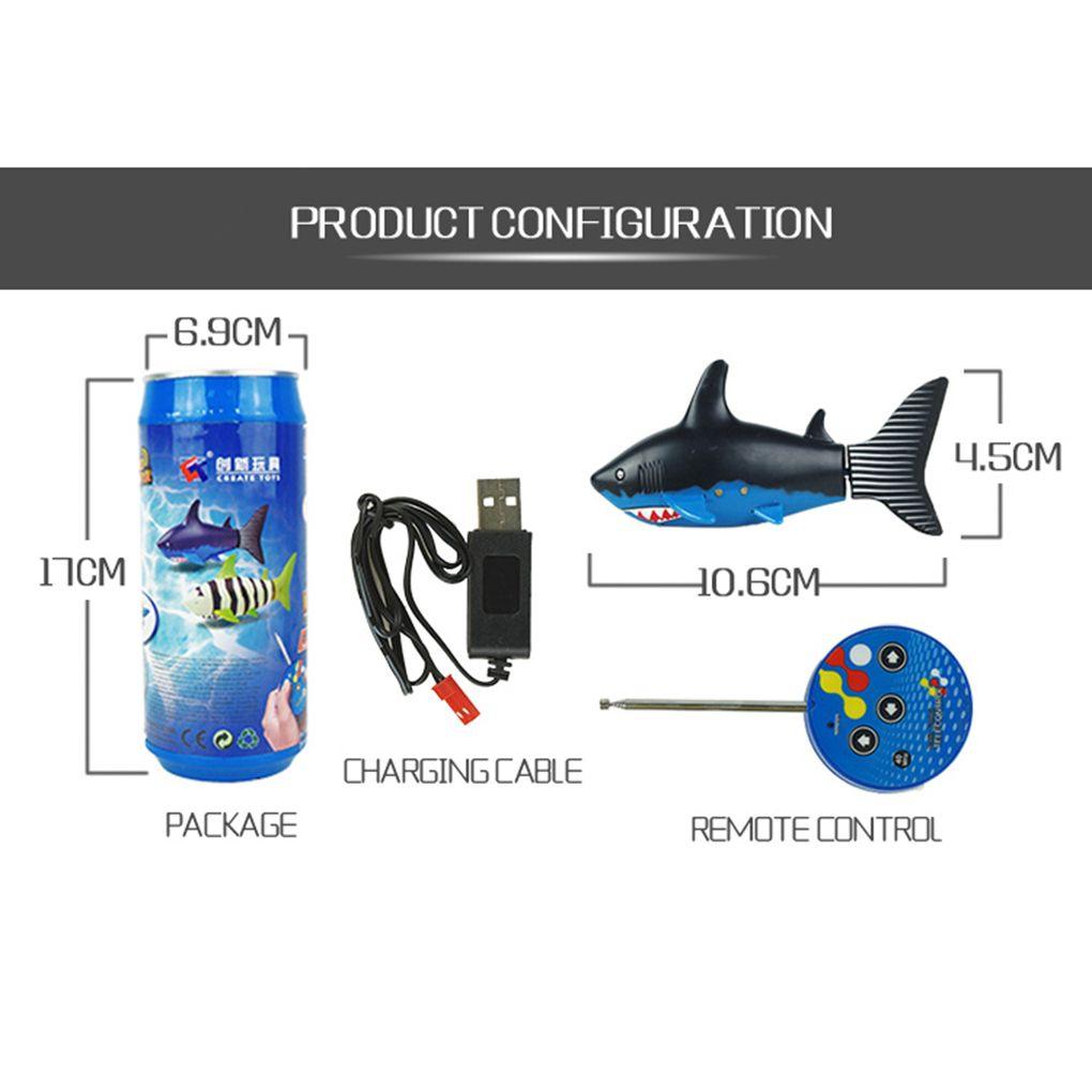 RC Shark Fish Boat Create Toys 3CH 4 Way Mini Radio Remote Control Electronic Toy Kids Children Birthday Xmas Gift