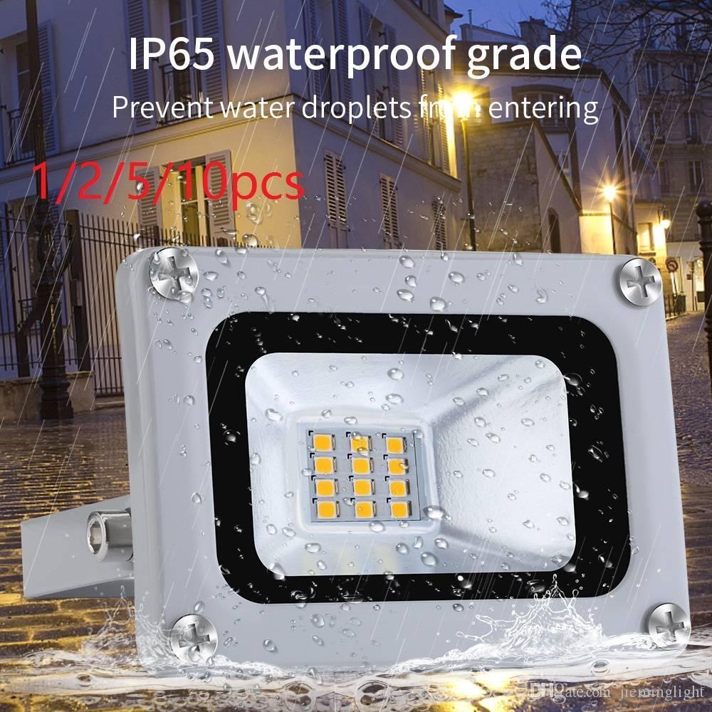 Reino Unido Stock 10W LED Projector 12V IP65 impermeável ao ar livre Flood Luz super brilhante branco fresco Spotlight Iluminação de paisagem Home Decor