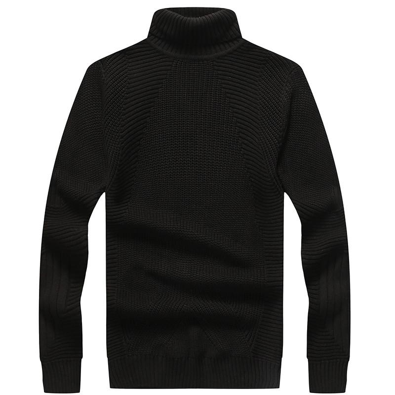 2018 New Autumn Winter Men'S Sweater Male Fashion Turtleneck Solid Color Casual Overcoat Men's Slim Fit Brand Knitted Pullovers