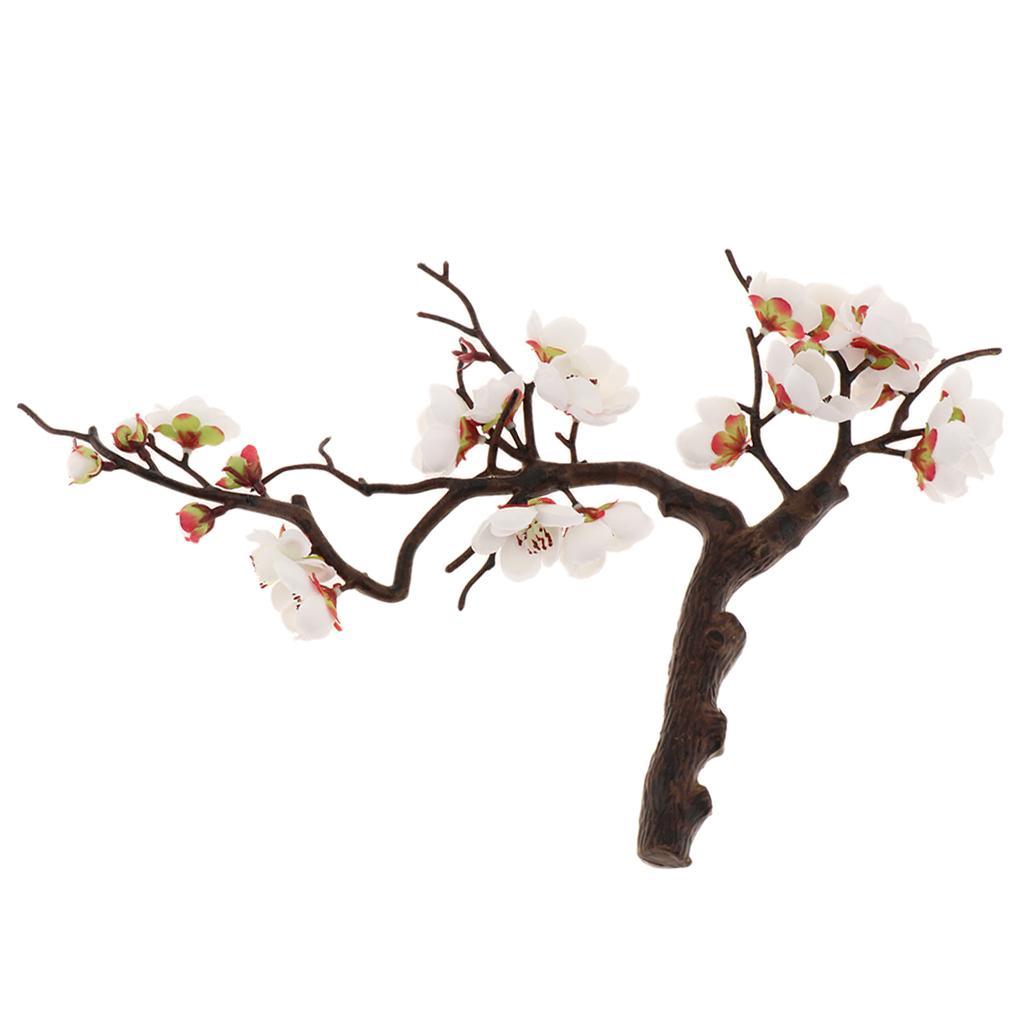 Regalo Decor Plum Blossom Floral Wedding Bouquet Partito per la casa Tavoli in vaso Casa e Giardino, Ufficio, caffè, decorazione della casa (24 centimetri)