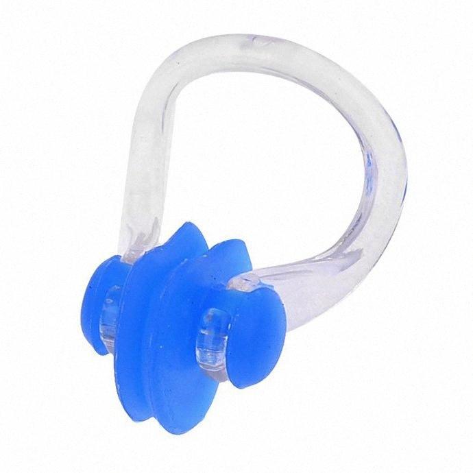 Adulti coppie sport acquatici tappi per le orecchie in silicone blu con il naso clip adulti coppie Nuoto Sport blu di nuoto del silicone tappi per le orecchie w KVnw #