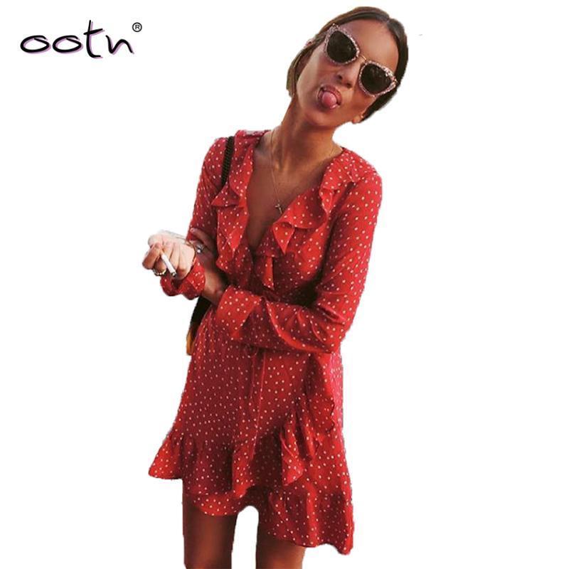 Bclout rojo rizado Mini vestido Warp Sun larga de las mujeres de manga corta Estrellas vestidos de época Túnica Mujer 2020 verano azul atractivo Negro