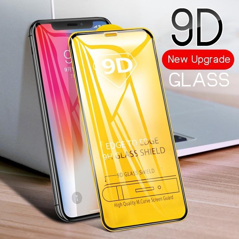 9D en verre trempé pour IPhone 11 / 11Pro / 11 ProMax X / X XR XSMax 7P / 8P 7/8 Anti-Scrath écran avant Protecteur plein écran Film de protection en acier