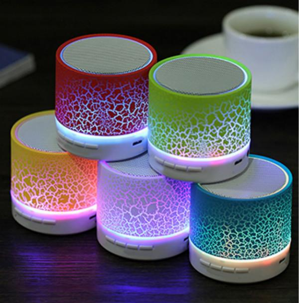 Cheap Portable Wireless Mini LED A9 Bluetooth Speaker Sound Box Cracker Subwoofer Speakers TF USB Subwoofer Mp3 Stereo Audio Music Player