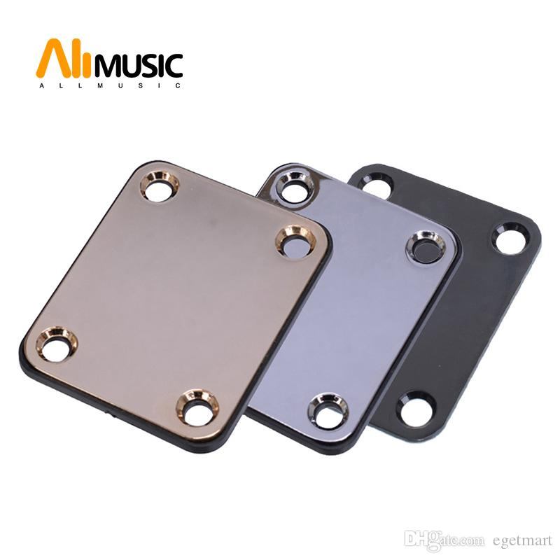 Black/Gold/Chrome Electric Guitar Neck Plate Bass Guitar Neck Strength Connecting Board Joint Plate - Including 4 Screws