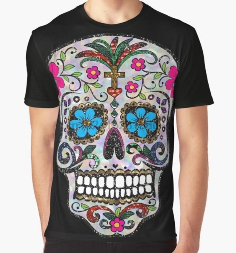 New Fashion Womens/Mens skull 3D Print funny Casual T-Shirt GT15