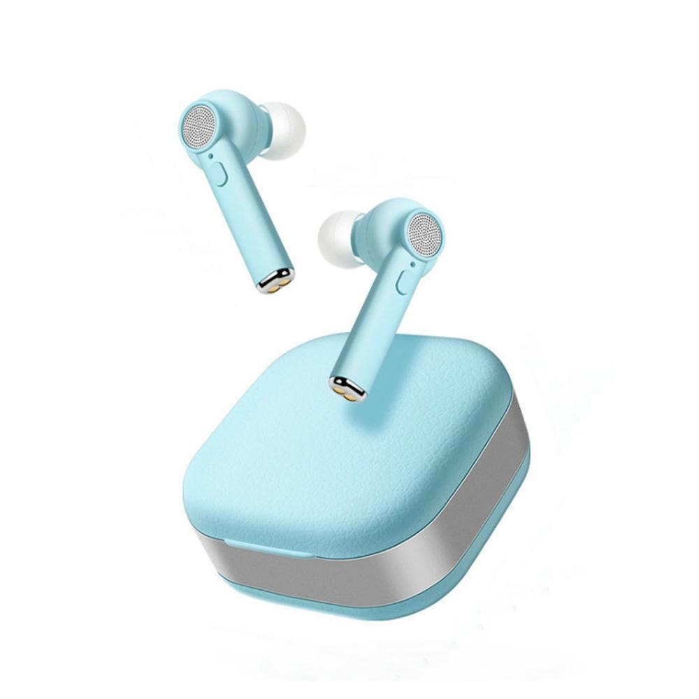 لاسلكي سماعات بلوتوث V5.0 ستيريو باس TWS الصوت سماعات سماعات لاسلكية مع الشحن حالة المحمولة سماعات الأذن سماعات اللون