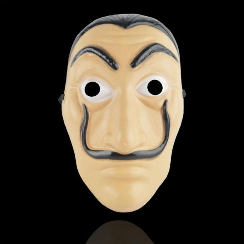 Cosplay Party Mask La Casa De Papel Face mask Salvador Dali Costume Movie Masks Realistic Christmas Halloween XMAS Masque Money Heist Props