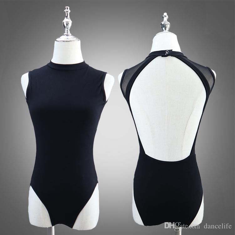 Adult high collar ballet leotard wholesale discount dance wear