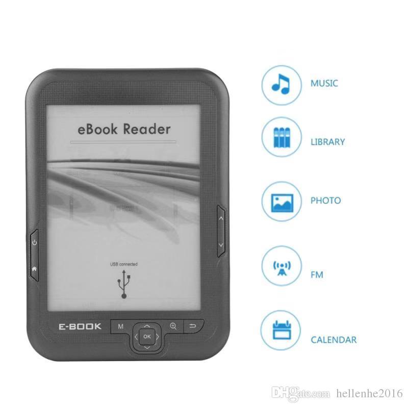 8 기가 바이트 16 기가 바이트 전자 책 리더 6 인치 HD 윙크 화면 2500mAh 배터리 포켓 책 선물 pu 커버