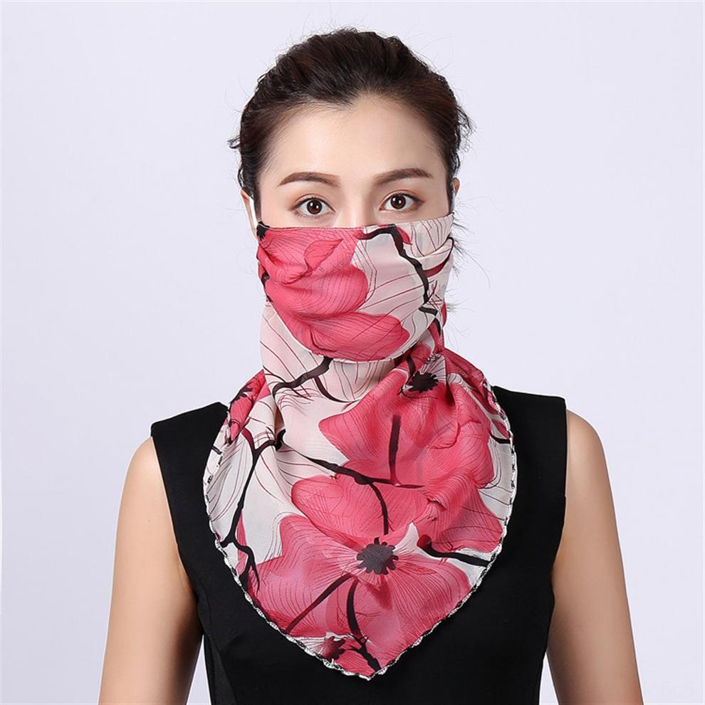 BMC7F Masques d'été Protection du cou Masque visage mince écharpe en mousseline de soie pleine Respirant Protection solaire Voile Foulard visage pour la randonnée.