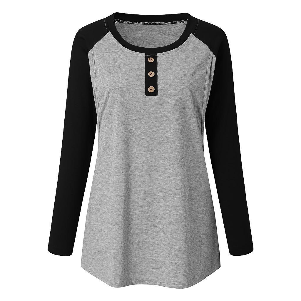 2020 Горячие женщины Блуза для беременных с длинным рукавом полосатой Уход Топы Футболка для беременных Грудное вскармливание Повседневный зима Блузка рубашка