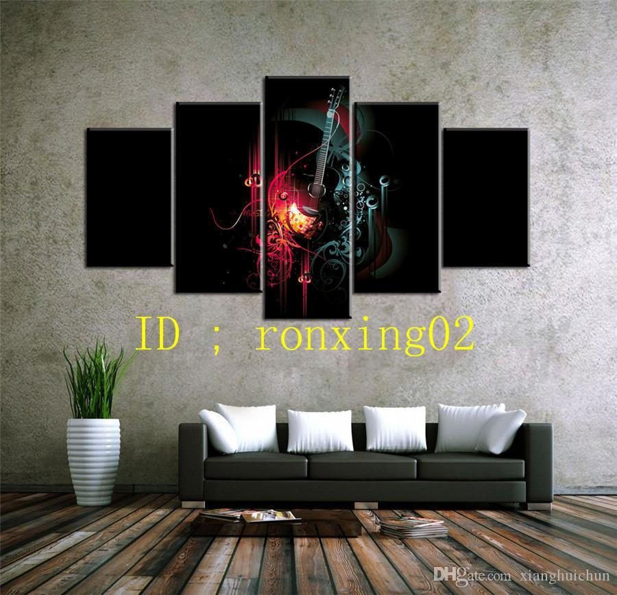 Musical Instrument Notes,5 Pieces Home Decor HD Printed Modern Art Painting on Canvas (Unframed/Framed)