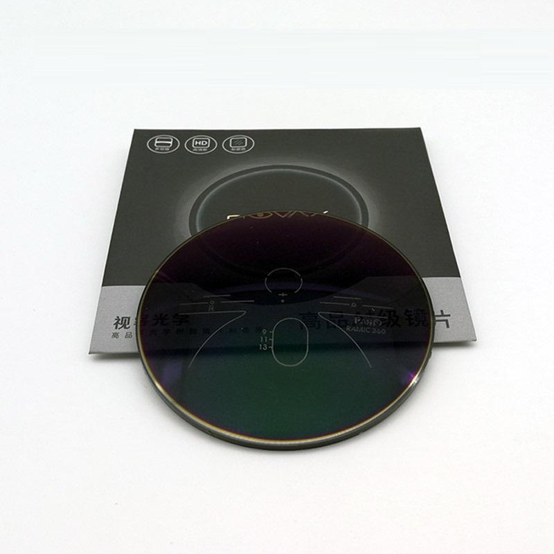 Evove Aşamalı Fotokromik Cam Miyop Diyoptri 1.56 1.61 1.67 Reçine Lensler Yansıma önleyici UV400