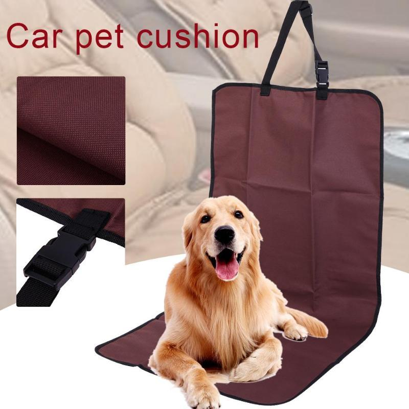 Pet Car Seat Cover Mat Waterproof Non Slip Dog Cat Front Single Seat Cover Travel Dogs Cats Pets Goods Supplies Accessories