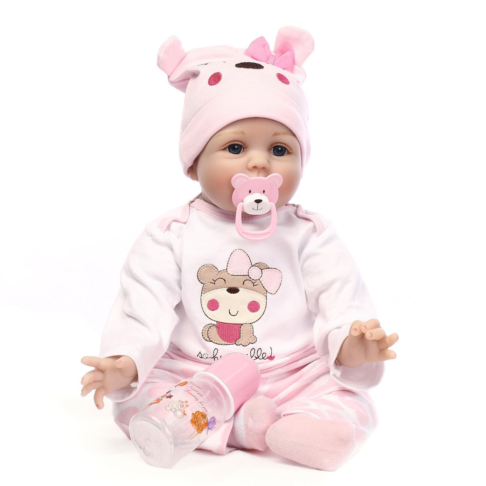Yesteria Натурально Возрождается Кукла Силикона Девушки Розовый 22 Дюйма