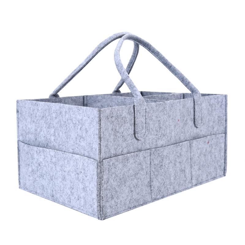 Protable Foldable Felt Diaper Bag Multi-functional Baby Care Supplies Large Capacity Diaper Bags