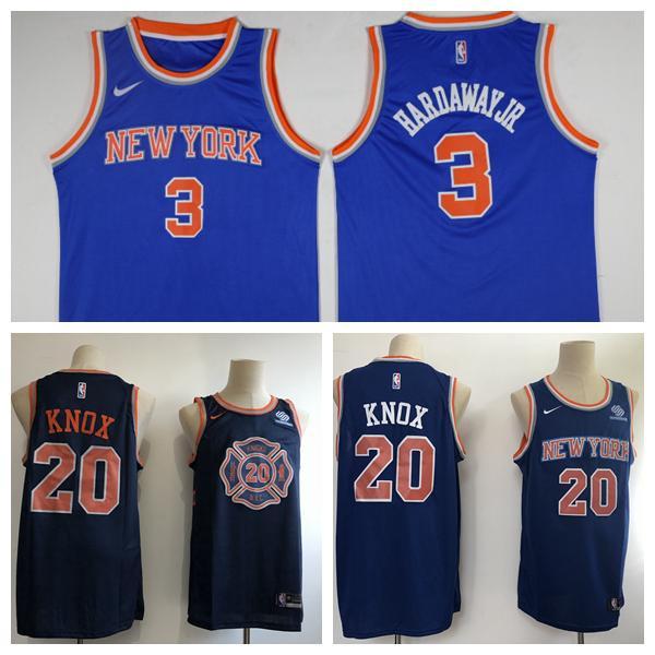 half off 17cc3 5ae7f 2018 2019 New Mens New York Knicks 6 Tim Hardaway Jr Basketball Jerseys  Stitched Knick New City Edition Kevin Knox 20 Jerseys Black Blue From ...