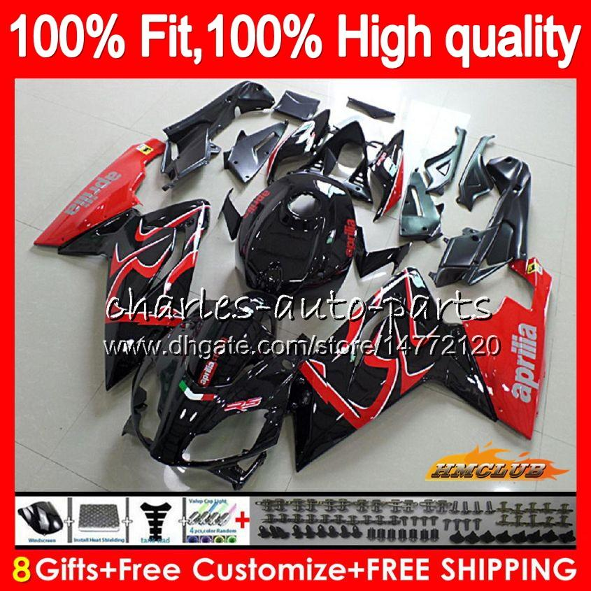 Injection For Aprilia RS4 RS 125 R RSV125 RS125R RS-125 69HC.5 RS125 06 07 08 09 10 11 2006 2007 2008 2009 2010 2011 red black new Fairings