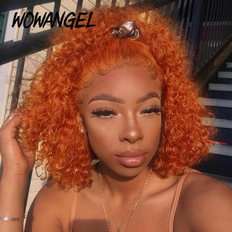 13x6 Deep Ginger parrucca rossa 99J parrucca anteriore in pizzo bordeaux parrucca anteriore arancione parrucche per capelli umani color uomo profondo onda bob pizzo anteriore remy wowangel