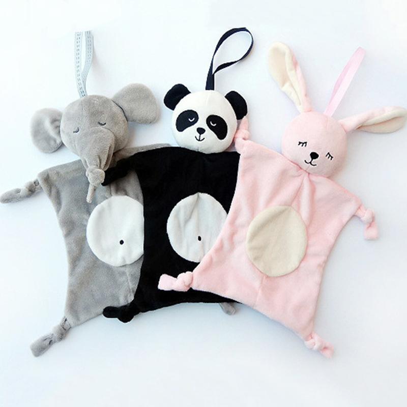 Babys Plüsch Soothing Toys Sicherheitsdecke Babyspielzeug Soothing Tuch für Babypflege Tierform Newborns Blankie Soothing Handtücher