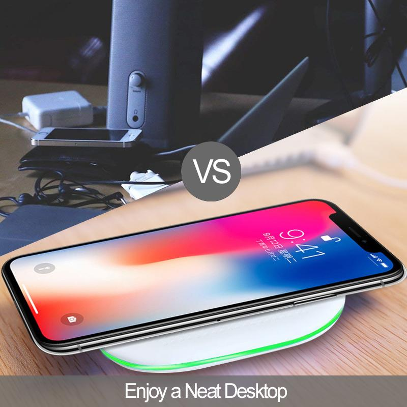 Wireless Chargers Pad for IPhone 11 X XR XS Max 10W Fast Wireless Charging for Samsung S9 S8 Note 8 9 S7 Charger IPad Hot Sale New-2