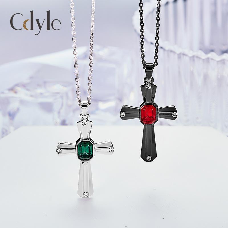 Swarovski kristal Cadılar Bayramı kolye kullanarak Avrupa ve Amerikan kristal çapraz kolye bayan kolye