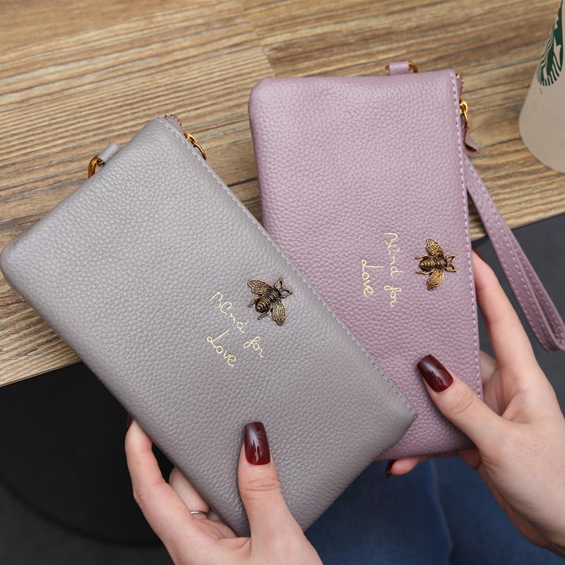 Fábrica al por mayor las mujeres de cuero mujeres de la moda de la personalidad cartera de largo carpeta de embrague bolsa bolso de la mujer monedero monedero de la cartera de cuero