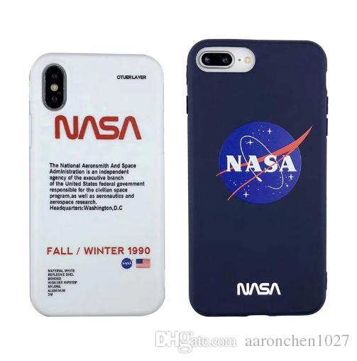 Popular American trend astronaut space case for iphone X XR XS MAX 7 8 6 S plus white soft silicone tpu luxury phone cover coque